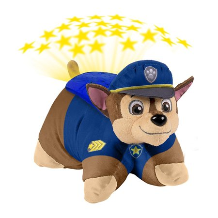 Nickelodeon Paw Patrol - Chase Dream Lites Stuffed Animal Night Light, CHASE IS ON THE CASE! Your favorite police pup is now a Pillow Pet Dream Lite! Chase.., By Pillow Pets Ship from US
