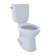 TOTO® Entrada? Two-Piece Elongated 1.28 GPF Universal Height Toilet, Cotton White - CST244EF#01