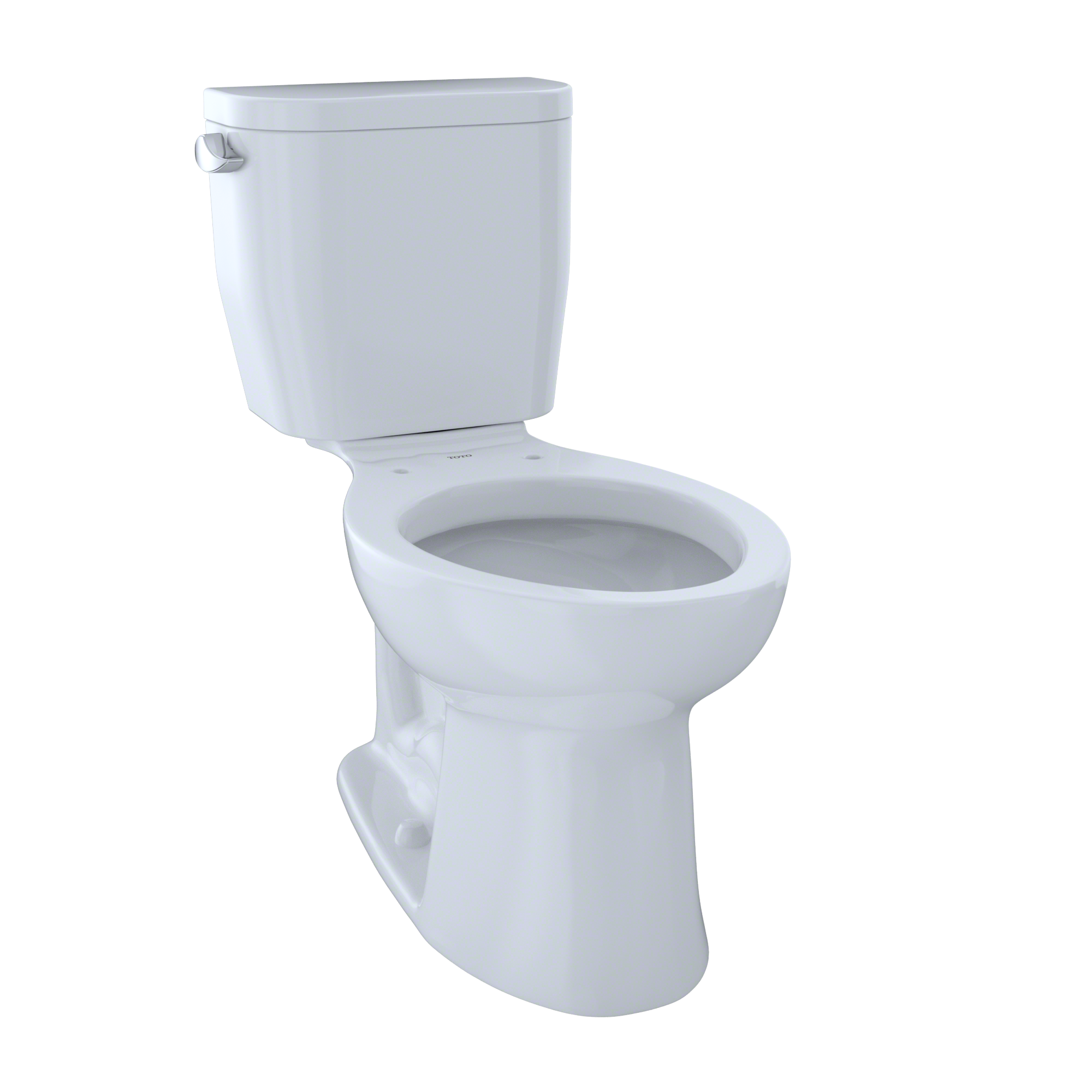 TOTO® Entrada™ Two-Piece Elongated 1.28 GPF Universal Height Toilet, Cotton White - CST244EF#01