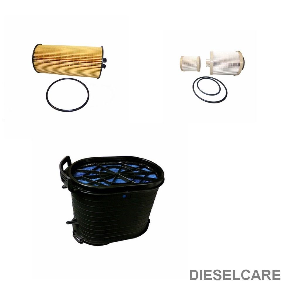 2003-2007 6.0 6.0L POWERSTROKE DIESEL FILTER KIT, includes 1 AIR FILTER, 1 OIL FILTER, AND 1 FUEL FILTER by DCP Products