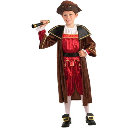 Children's Christopher Columbus Costume, Small, Hat, tunic, jacket and shoe covers By Forum - Christopher Columbus Costume