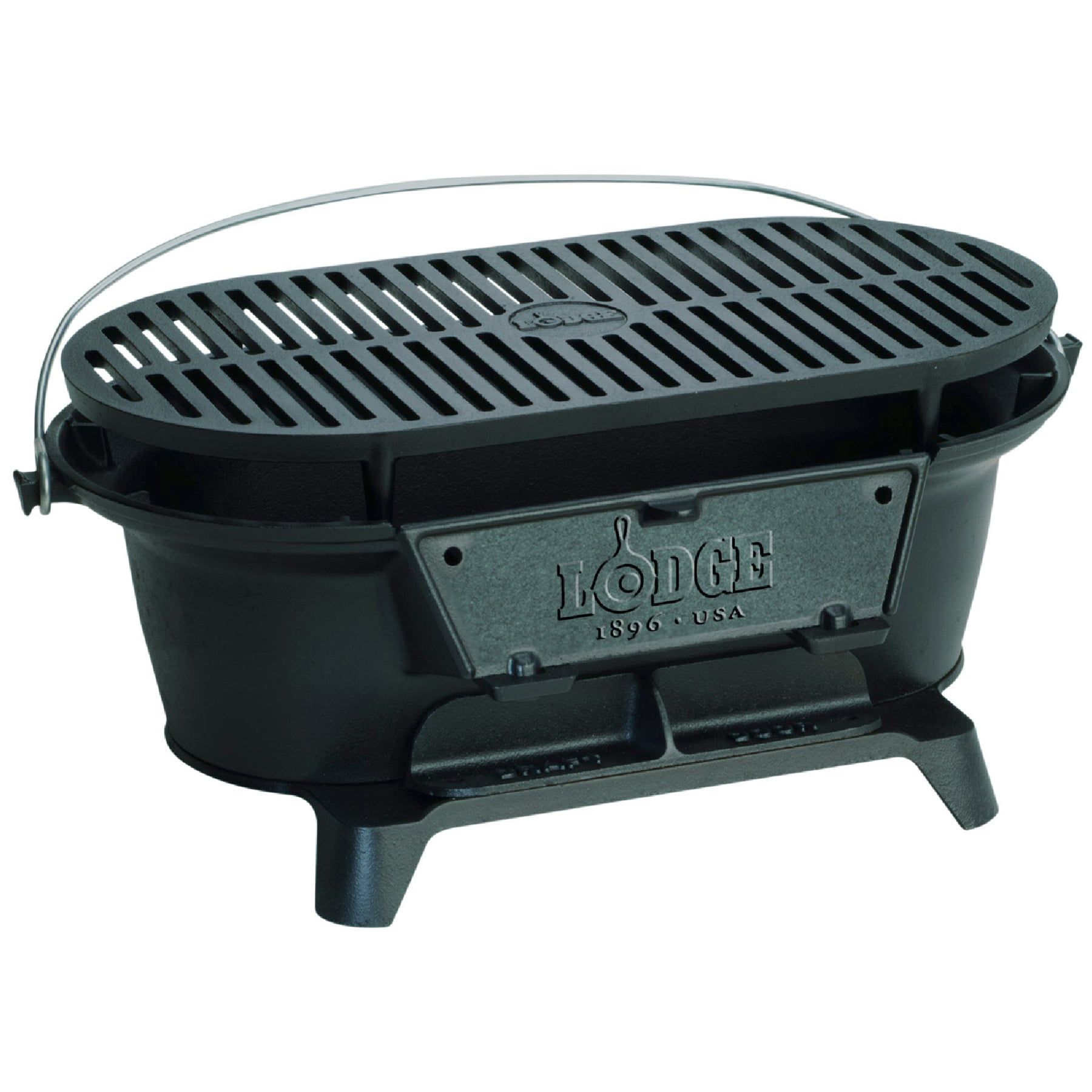 "Lodge L410 9"" X 17"" Hibachi Style Charcoal Grill by Lodge Mfg Co"