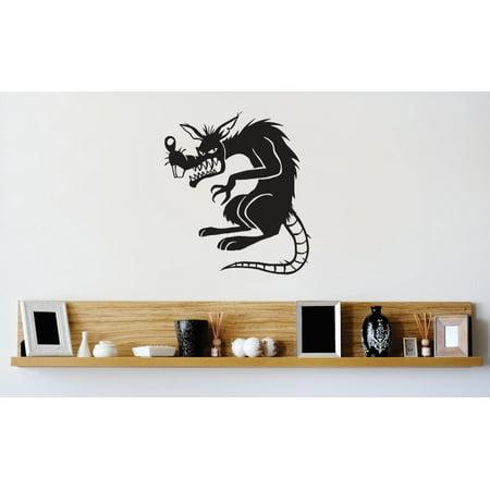 Evil Rat - Custom Wall Decal Vinyl Sticker : Evil Rat Rodent Image Picture Art Peel & Stick Mural 12x12 Inches