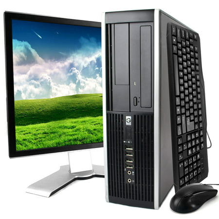 Refurbished HP Black Compaq 8100 Desktop Intel i5 Dual Core 3.2GHz 4GB RAM 250GB HDD Intel HD Graphics DVD-ROM Windows 10 Home 19'' Display Keyboard Mouse Compaq Presario Desktop Ram