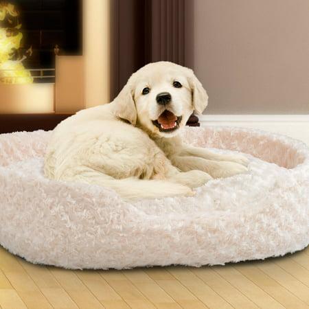 PETMAKER Small Cuddle Round Plush Pet Bed ()