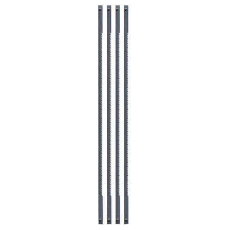 36-678 Coping Saw Blades, 6-1/2-Inch Long Between Pins, 125-Inch x 020-Inch x 15 TPI, 4-Pack, Flat wire frame for tensioning standard pin end.., By