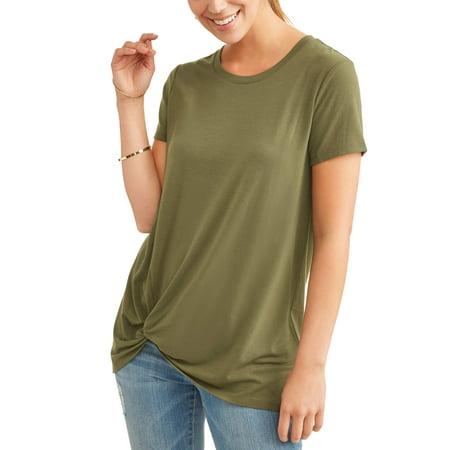 fece4e28905 Time and Tru - Women's Twist Knot T-Shirt - Walmart.com