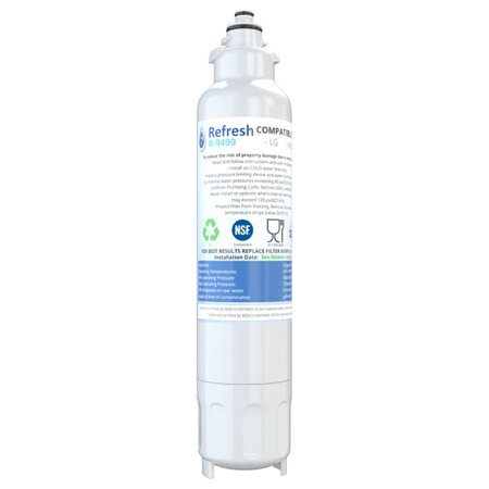 Replacement For LG LT800P Refrigerator Water Filter - by Refresh (Lg Refrigerator Water Filters)