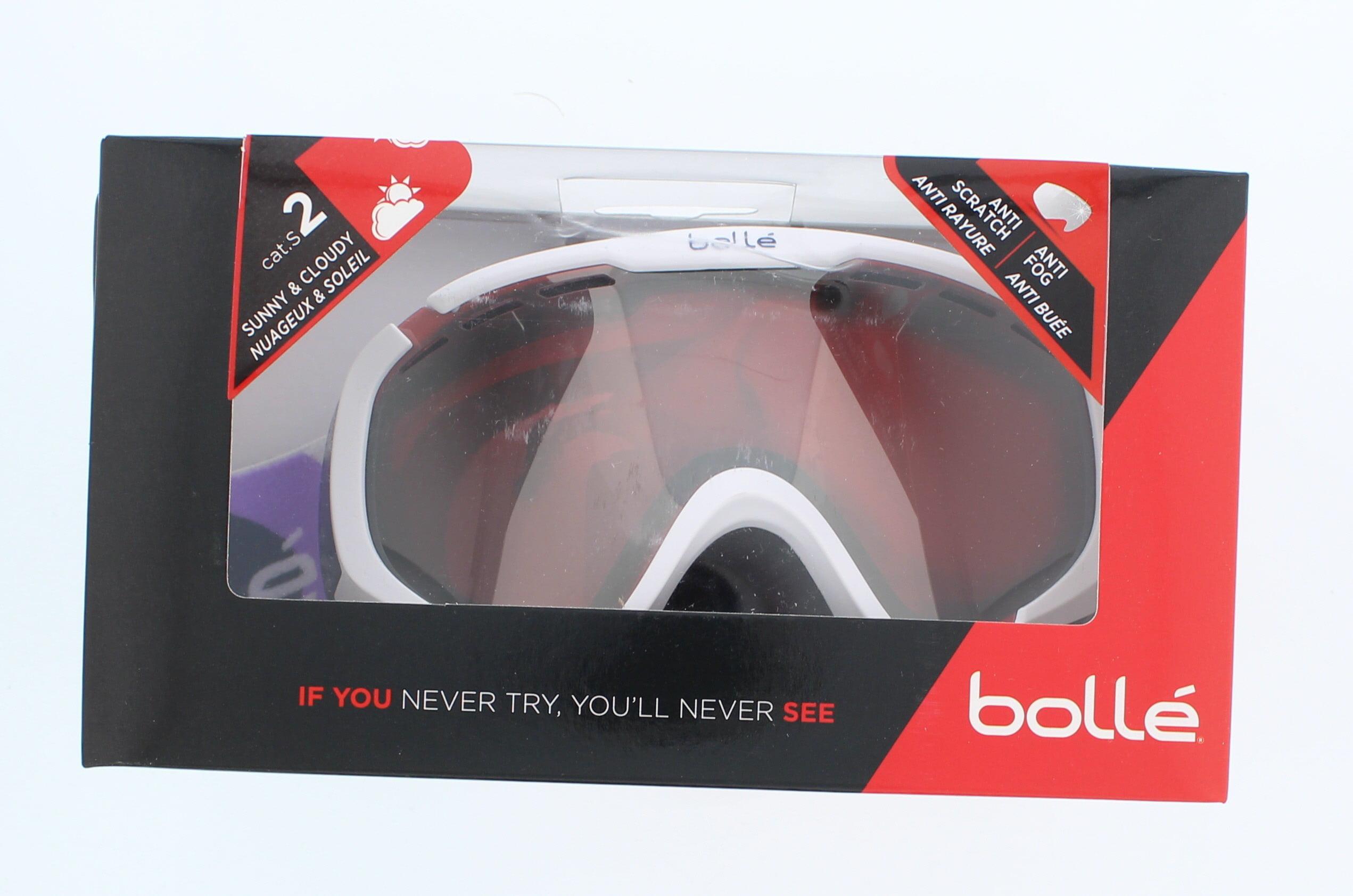 Bolle Winter Explorer Matte White Bubbles Vermillion Gun S 21607 Ski Goggles AF by Supplier Generic