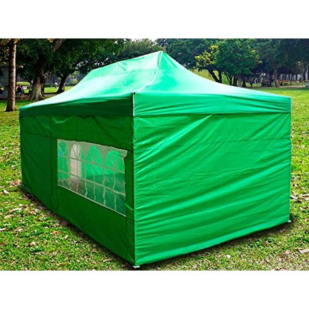 New MTN-G Light Green Deluxe EZ up Canopy Pop Up Tent 15'