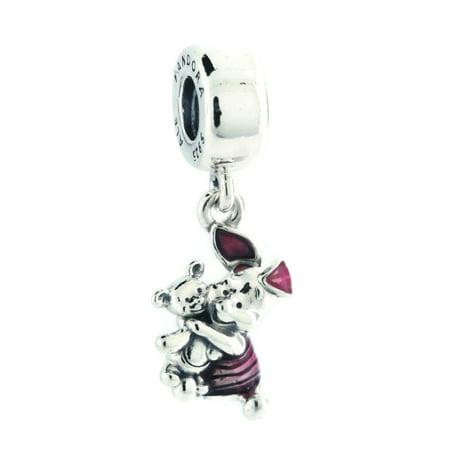 Disney Piglet Jewelry - Authentic PANDORA Disney, Piglet Charm, Transparent Cerise Enamel 792134EN117