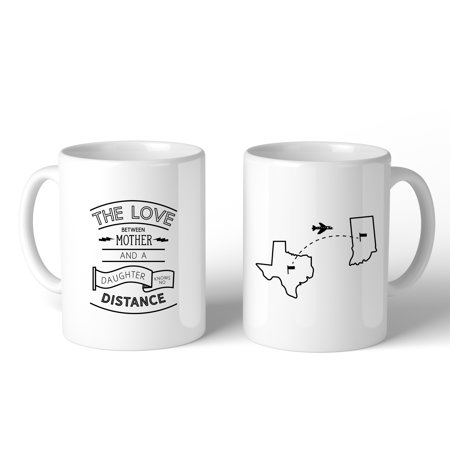 The Love Between Personalized Ceramic Mug Mom Gift From