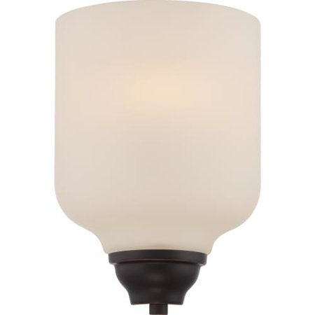 11.25 in. Wall Sconce in Mahogany Bronze Finish