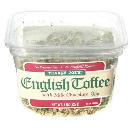Milk Toffee - Trader Joe's English Toffee with Milk Chocolate 8 oz