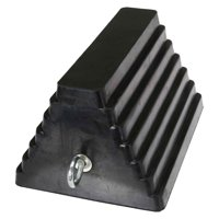 "9-1/4"" Rubber Double-Sided Wheel Chock with Eye Bolt"
