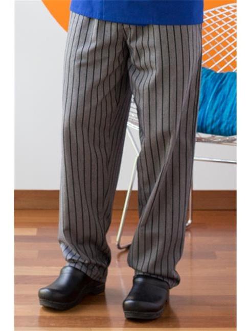 uncommon threads unisex yarn dyed baggy chef pant, black/grey chevron, medium