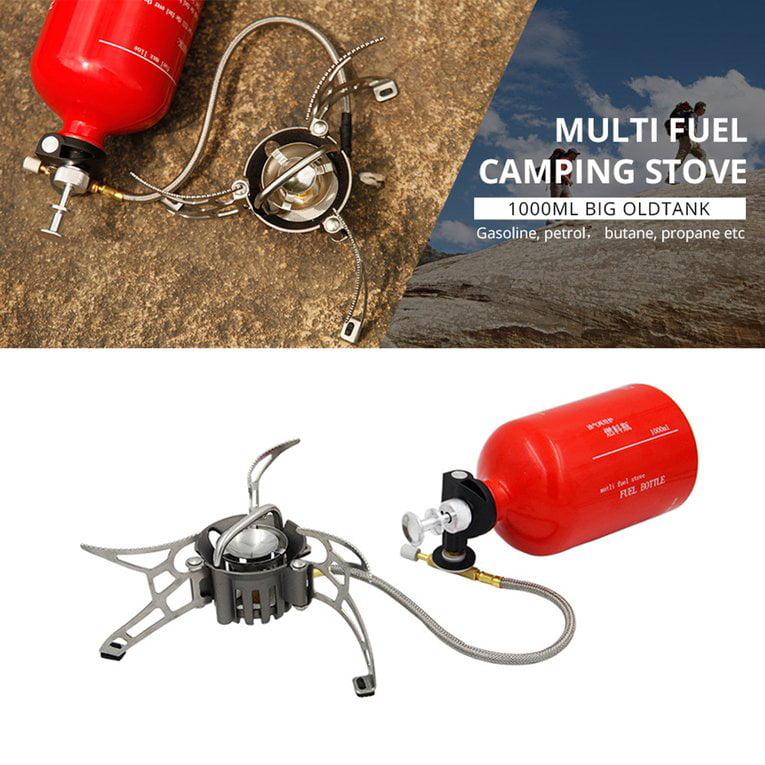 Silver Outdoor Camping Petrol Stove Burners 1000Ml Gasoline Picnic Stove Burner
