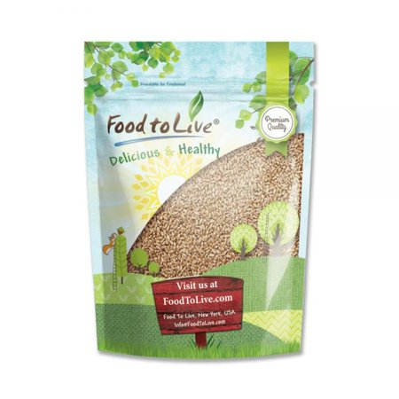 Food To Live  Hard Red Wheat (5 Lbs) - Excellent For Growing Wheatgrass to Juice, Food Storage, Grinding to Make Flour & Bread, Grain, Ornamental Wheat Grass, and Sprouting