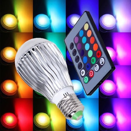Color Changing Led Light Bulb With Remote Control 2 Pack