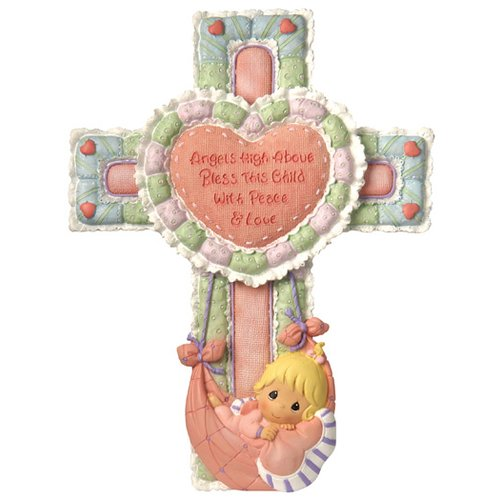 Precious Moments Precious Little Blessings Baby Girl Cross Figurine