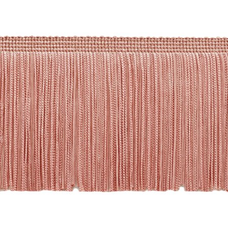 4 Inch Chainette Fringe Trim, Style# CF04 Color: Light Rose Pink - 07, Sold By the