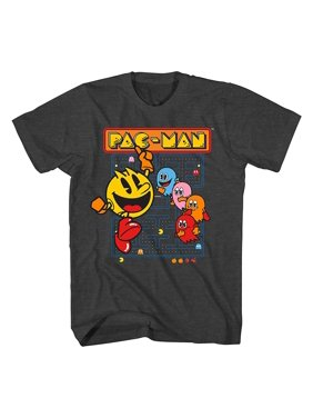 Pac-Man Official Pacman Video Game Shirt - Namco Atari Official T-Shirt (Large)