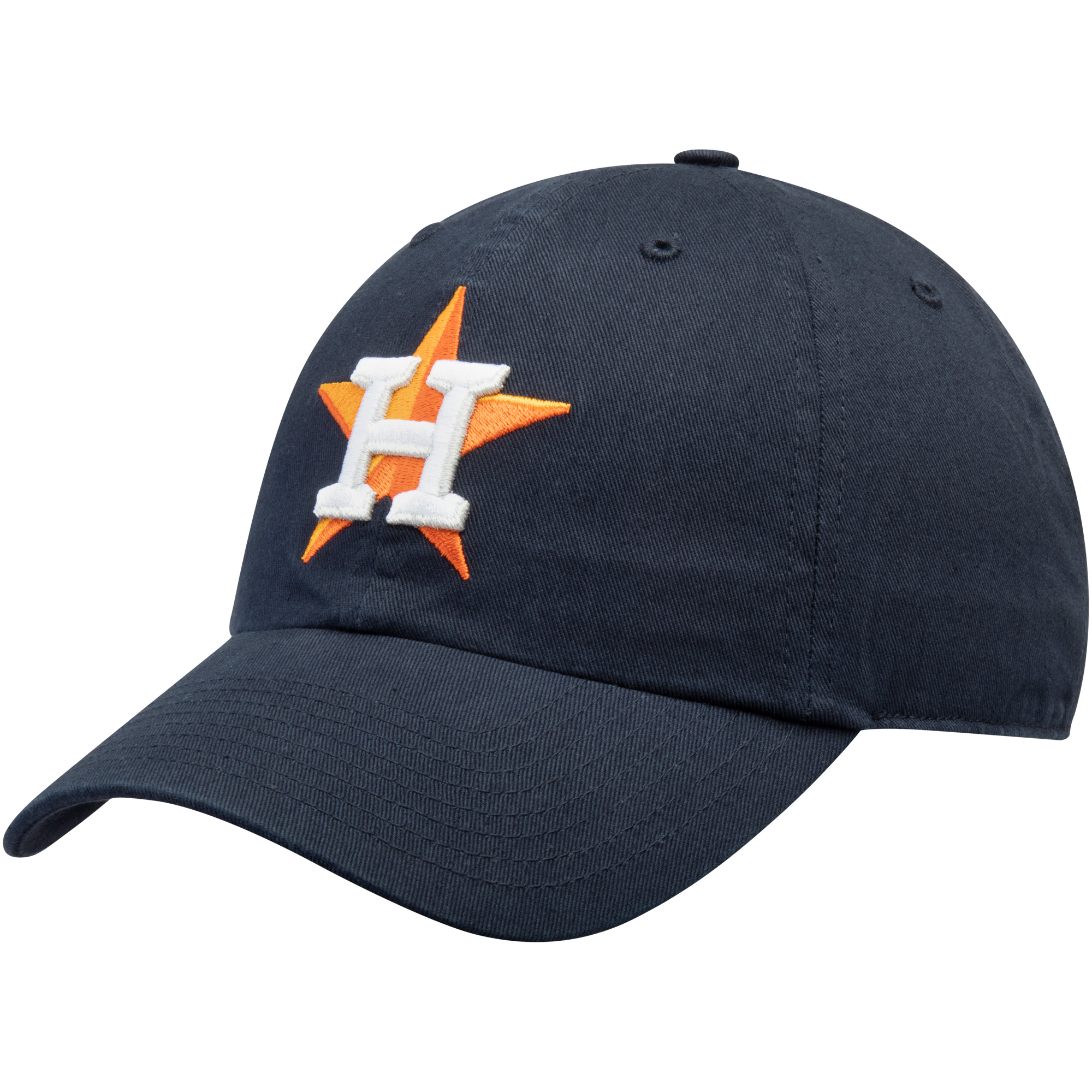Houston Astros Fan Favorite Primary Logo Clean Up Adjustable Hat - Navy - OSFA