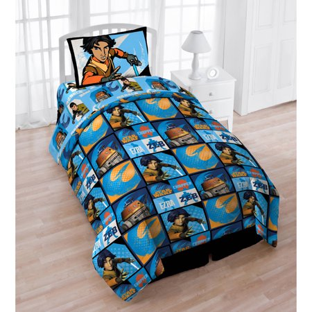 Star Wars 4 Pc  Twin Bed In A Bag With Bonus Tote