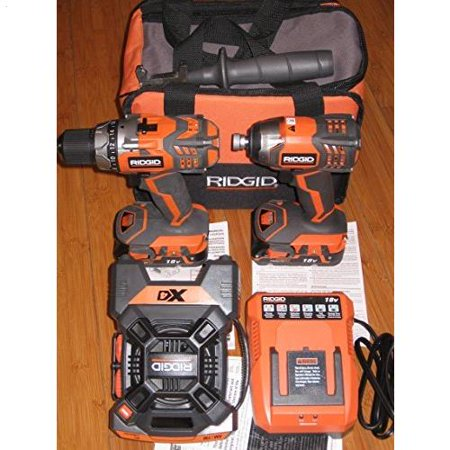 Ridgid Combo Kit (RIDGID R9601  18-Volt X4 Hyper Lithium-Ion Cordless Drill and Impact Driver Combo)
