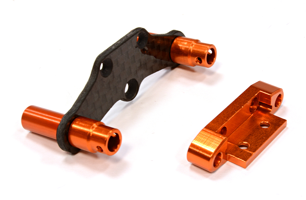 Integy RC Toy Model Hop-ups C25778ORANGE Billet Machined Rear Body Mount & Pin Retainer... by Integy