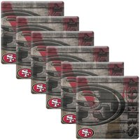 San Francisco 49ers 6-Pack Wood Stone Coaster Set
