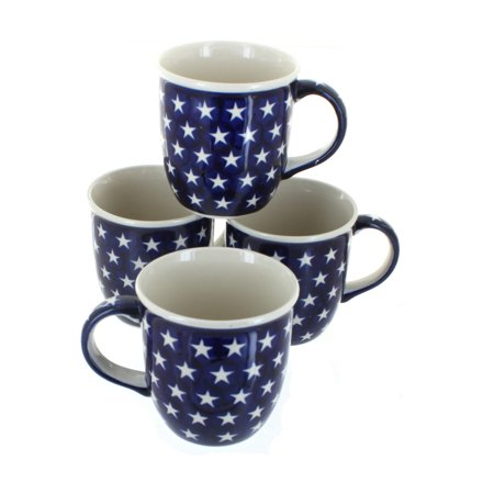 Polish Pottery Stars 4 Piece Mug Set ()
