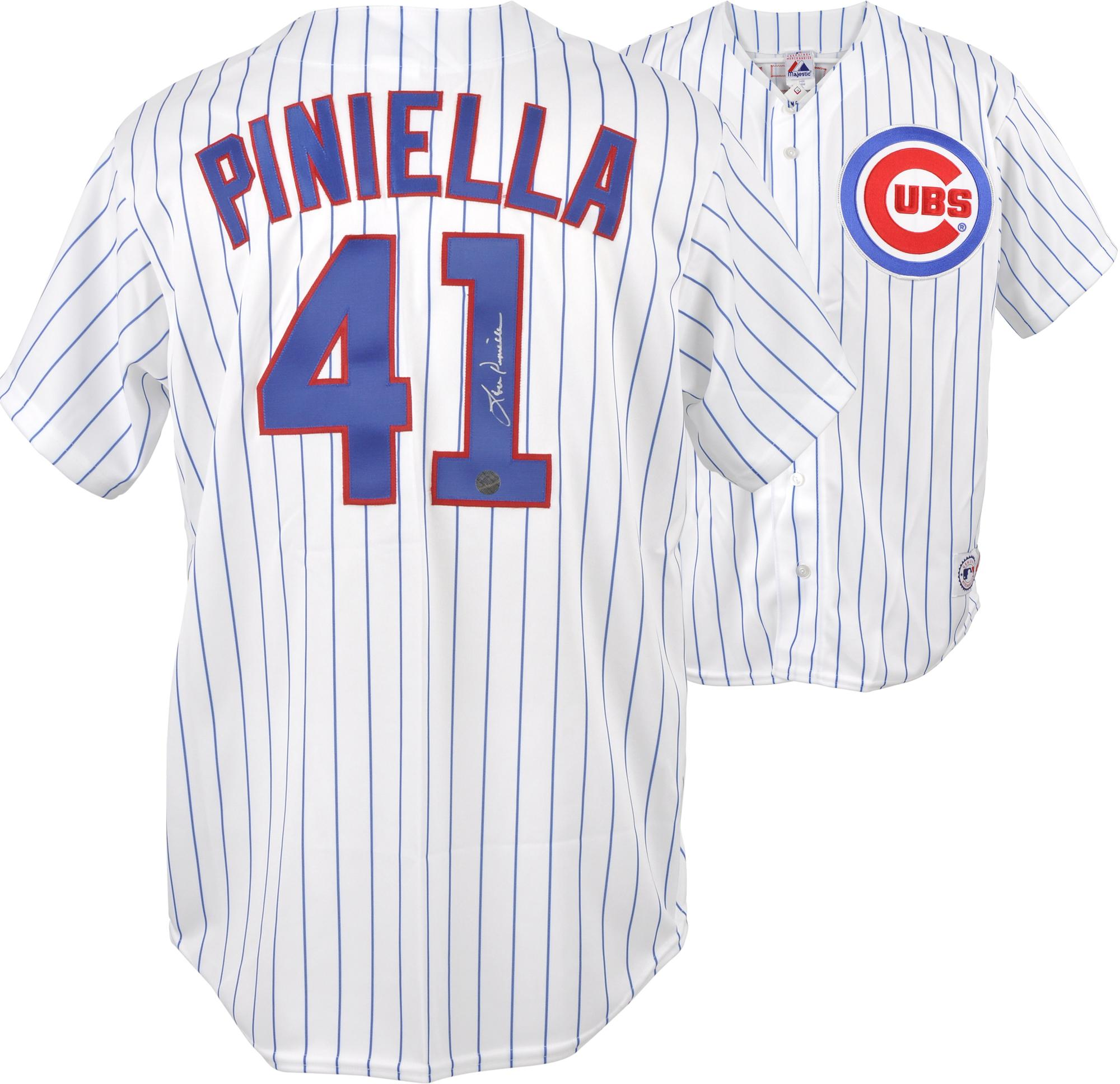 Lou Piniella Chicago Cubs Autographed White Pinstripe Replica Jersey - Fanatics Authentic Certified