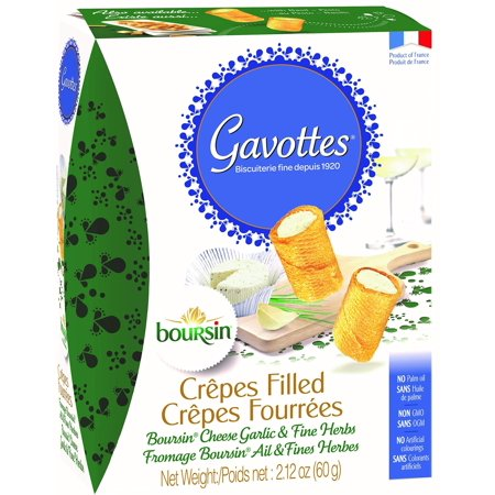 Gavottes, Cracker Boursin Cheese Filled, 2.12 Ounce 1