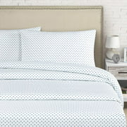 Echelon Home Cleo 250 Thread Count Cotton Percale Sheet Set