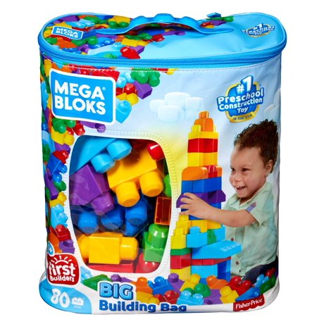 Mega Bloks First Builders Classic Big Building Bag 80-Piece Set