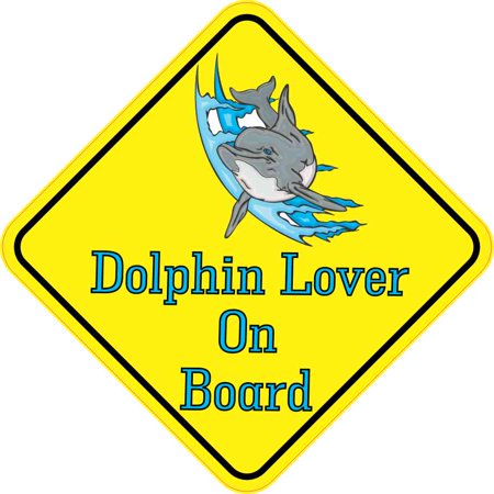 6in x 6in Dolphin Lover On Board Sticker Car Truck Vehicle Bumper Decal](Dolphin Card)