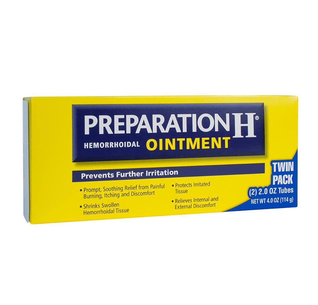 Preparation H Hemorrhoidal Ointment, 2 Oz Tubes, 2 Ct