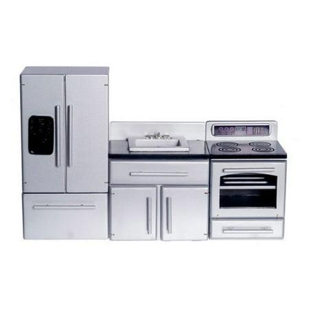 Town Square Miniatures Silver Appliance Kitchen Set