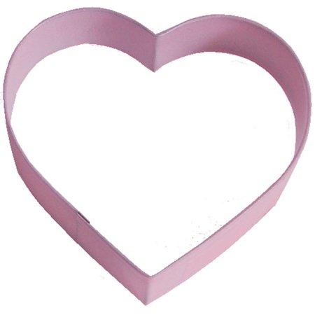 Heart Cookie Cutter - Heart Pink 4 in Cookie Cutter Pr1154P - R&M Cookie Cutters - Tin Plate Steel