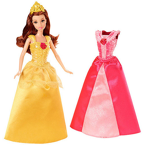 Disney Princess Belle Doll with MagiClip Fashion by Mattel
