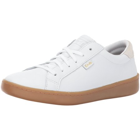 772602d9f0 Keds Women's Ace Leather Fashion Sneaker, White/Gum, 6 M US