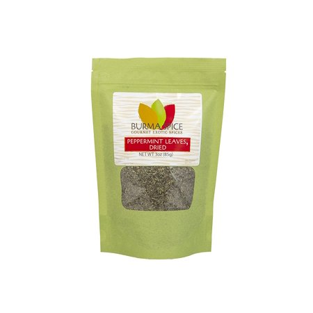 Burma Spice Gourmet Exotic Spices Peppermint Leaves Dried (Exotic Spice Refill)