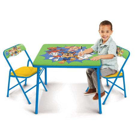 Paw Patrol Kids Erasable Activity Table (Green/Yellow)