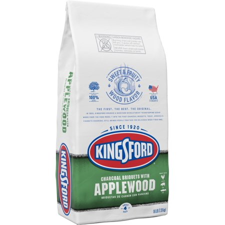 Kingsford Original Charcoal Briquettes with Applewood, BBQ Charcoal for Grilling - 16 (Best Briquettes For Smoking)