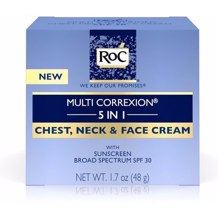 2 Pack - Roc Multi Correxion 5 In 1 Anti-Aging Chest, Neck & Face Cream With SPF 30 1.7