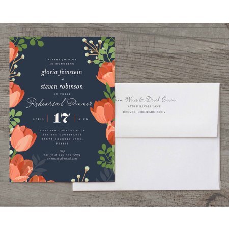 Rehearsal Dinner Bouquet Party Invite Deluxe Rehearsal Dinner](Halloween Party Invites Diy)