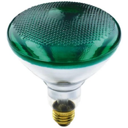 Green Reflector Floodlight (70893 100W BR38 Westpointe Flood Beam Accent Reflector Light Bulb,)