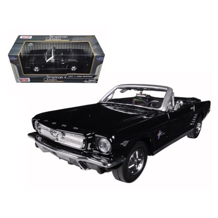 1964 1/2 Ford Mustang Convertible Black 1/24 Diecast Model Car by Motormax 1964 1/2 Mustang Convertible