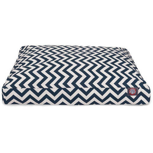 Majestic Pet Navy Chevron Large Rectangle Pet Bed